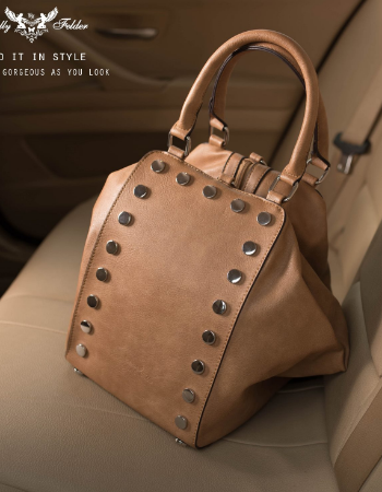 Double Fold Bag With Metal Details